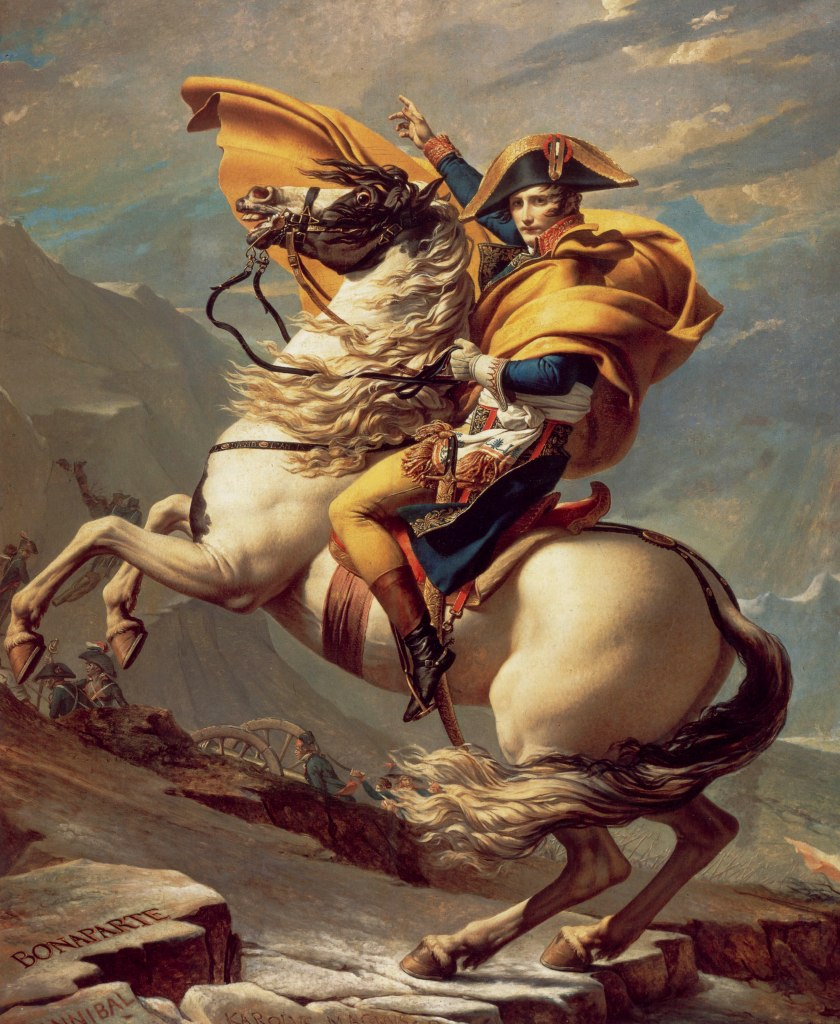 "David, Jacques-Louis: ""Napoleon Crossing the Alps"" (1800 version)"