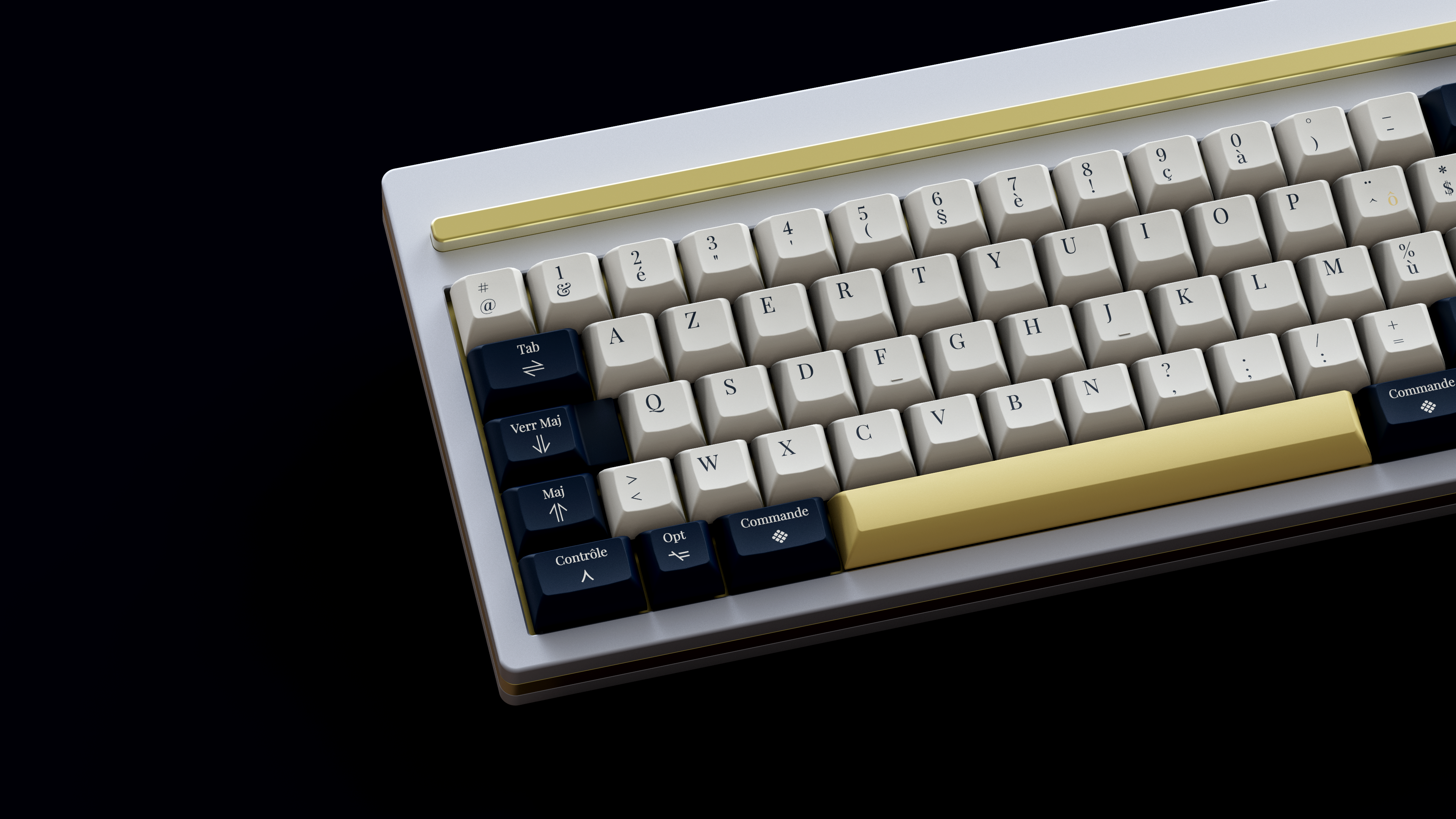 Apple AZERTY on J02. Render by Ulliam.