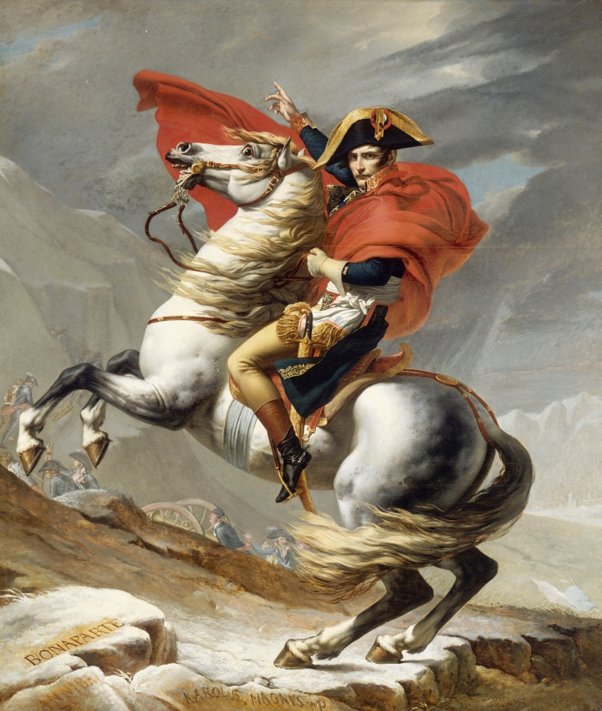 "David, Jacques-Louis: ""Napoleon Crossing the Alps"" (1802 version)"
