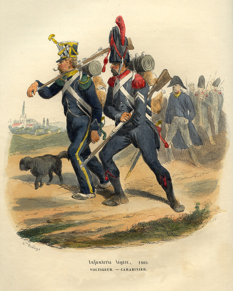 "Bellangé, Hippolyte: ""Light Infantry: Voltigeur and Carabinier from the Grande Armée"""