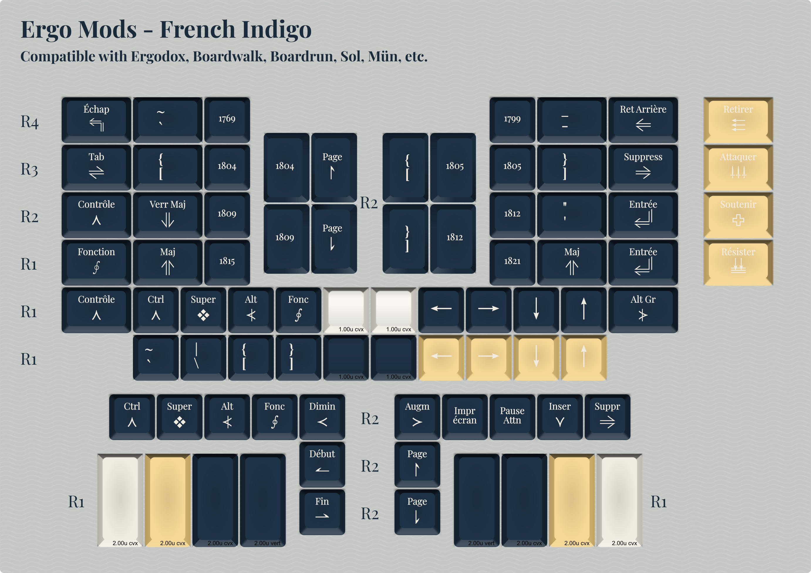 Ergo Mods (French Indigo)