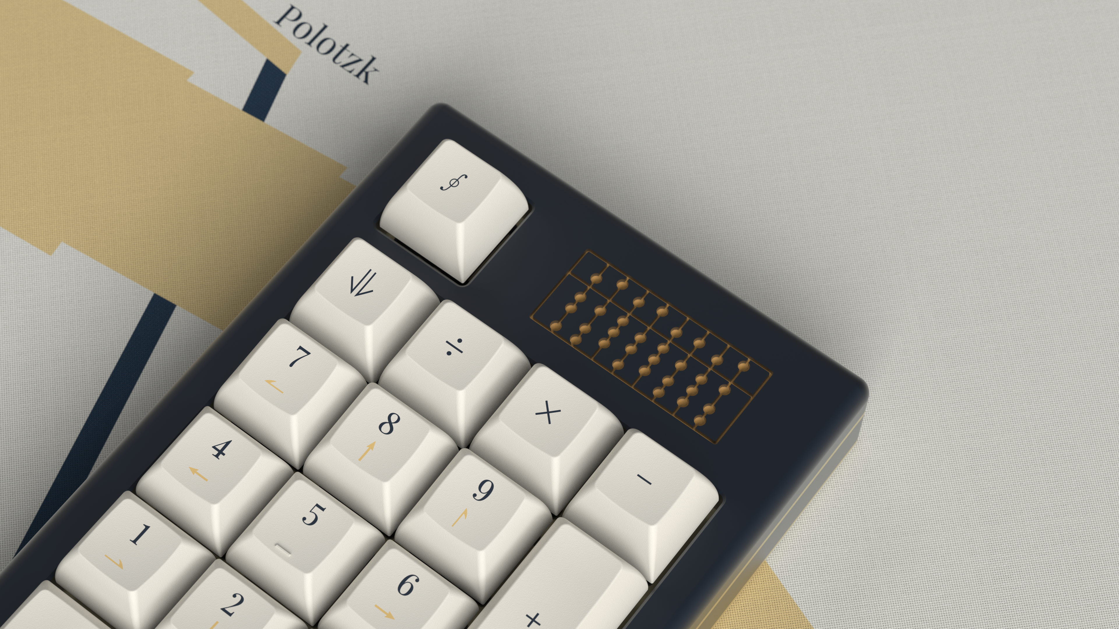 Austrian White Numpad kit on Abacus by SomeGreekGuy (unreleased). Render by manzel.